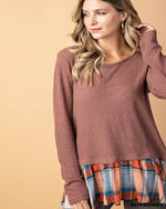 Plaid Lover Blouse-Tops-Inspired Wings Fashion-Small-Inspired Wings Fashion