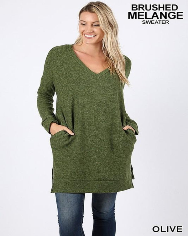 Set Me Free Sweater Dress Hunter Green