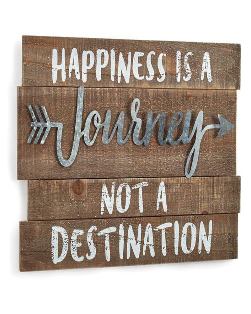 Happiness is a Journey not a Destination Sign