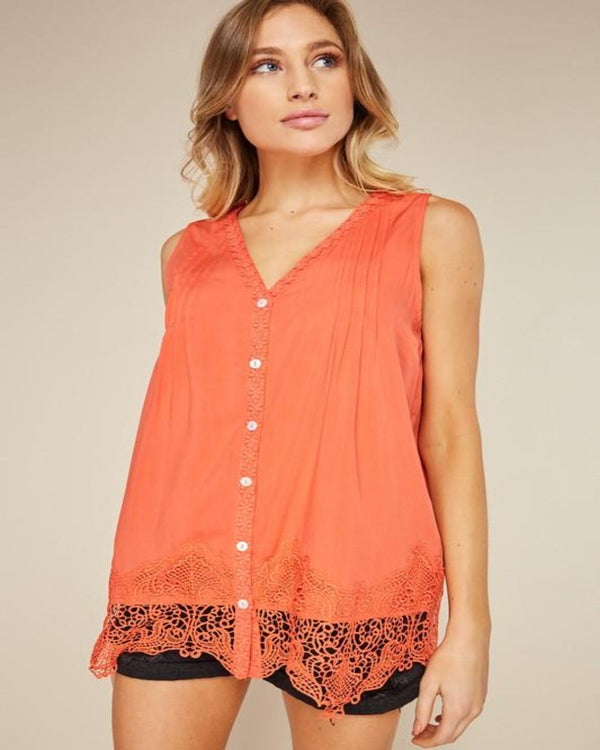 Heavenly Lace Tank