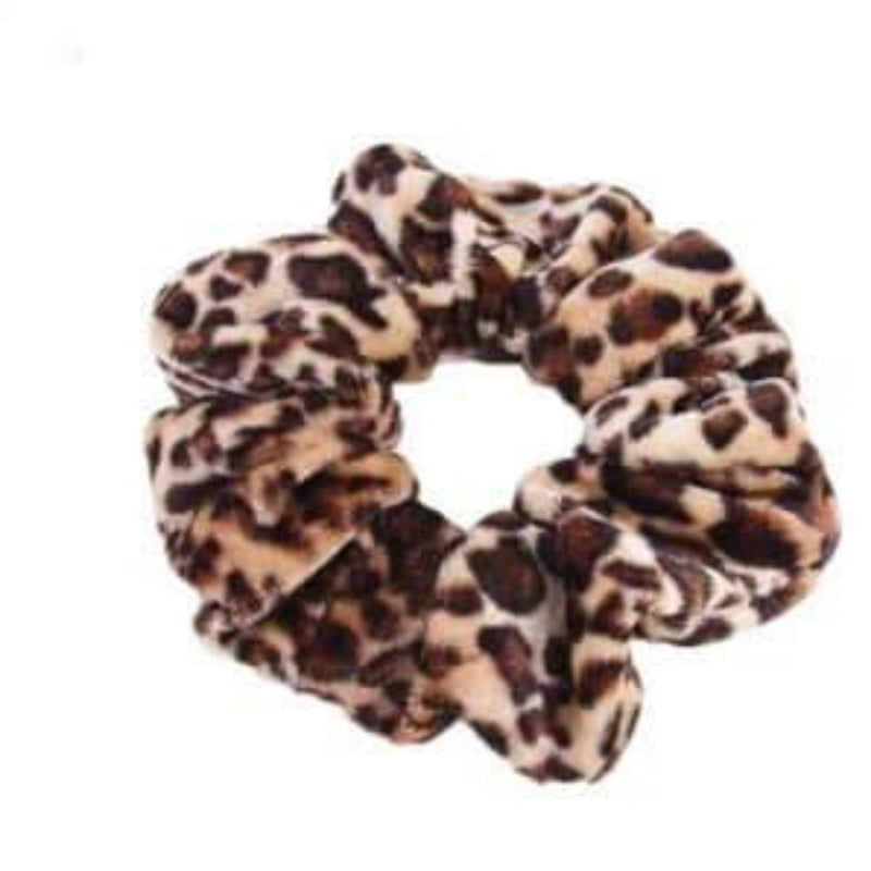 Velvet Leopard Scrunchies-Accessories-Julia Rose Wholesale-Inspired Wings Fashion