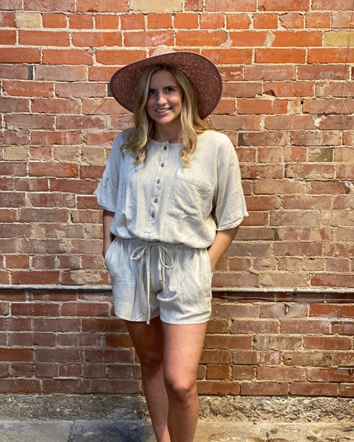 Henley Romper-Jumpsuit-Inspired Wings Fashion-Small-Inspired Wings Fashion