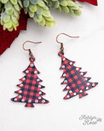 Rockin Around Earrings-Southern Grace Wholesale-Plaid-Inspired Wings Fashion