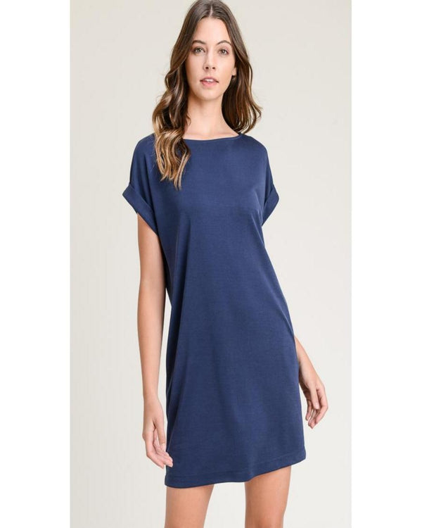 Back to Better Days Dress Navy