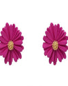 Warmth Flower Stud Earrings-Accessories-What's Hot Jewelry-Fushia-Inspired Wings Fashion