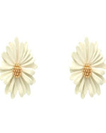 Warmth Flower Stud Earrings-Accessories-What's Hot Jewelry-Ivory-Inspired Wings Fashion