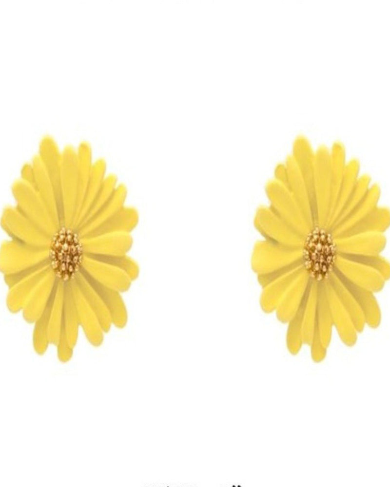 Warmth Flower Stud Earrings-Accessories-What's Hot Jewelry-Yellow-Inspired Wings Fashion
