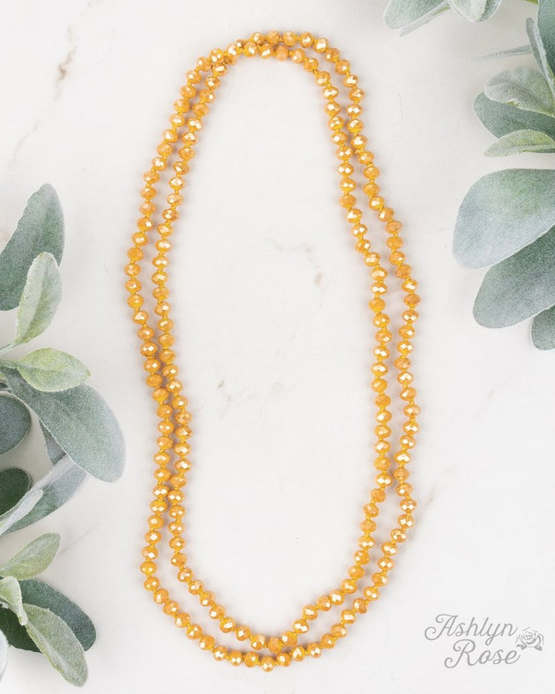 Double Wrap Necklace-Accessories-Southern Grace Wholesale-Mustard-Inspired Wings Fashion