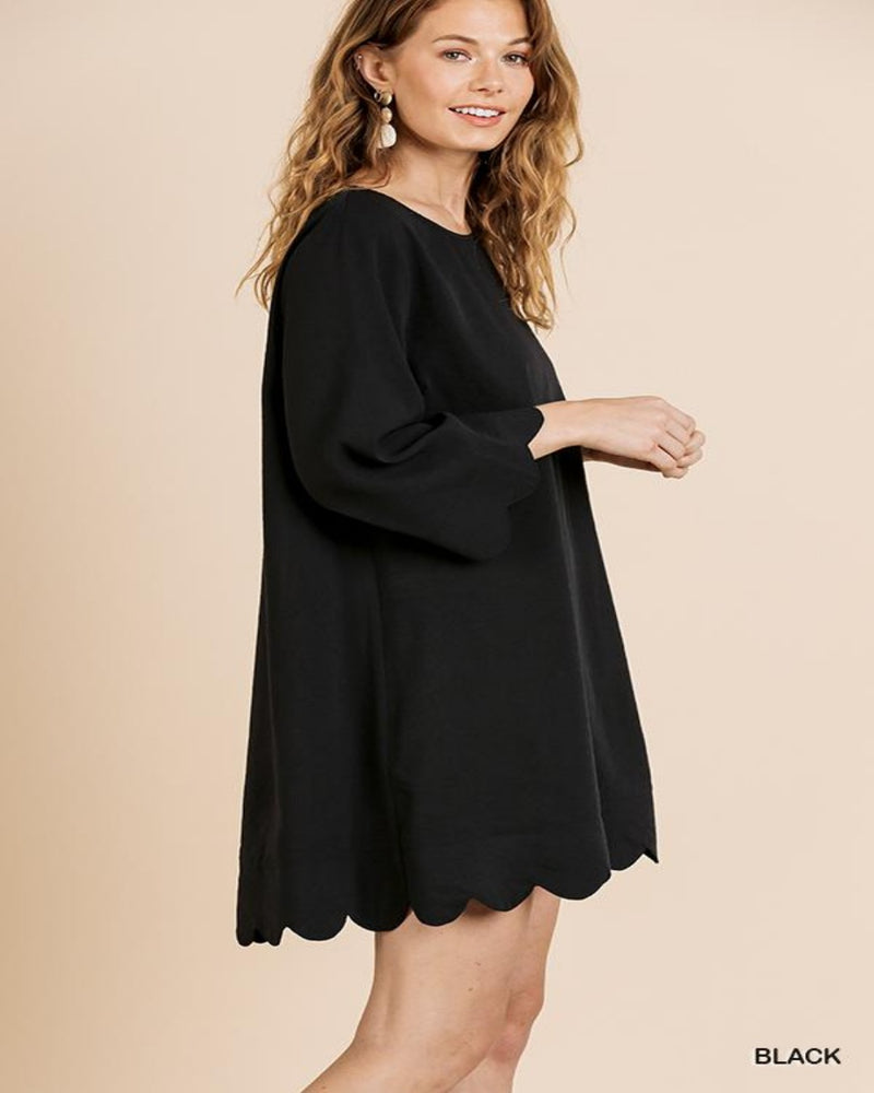 Comfy Scallop Dress