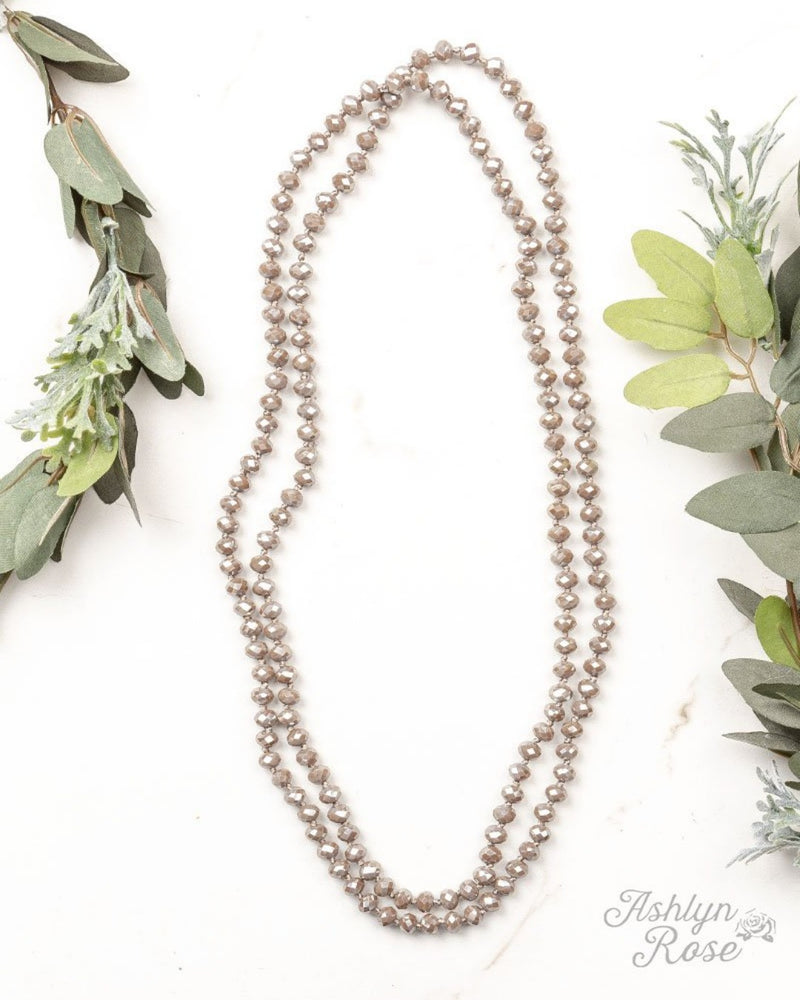 Double Wrap Necklace-Accessories-Southern Grace Wholesale-Taupe-Inspired Wings Fashion