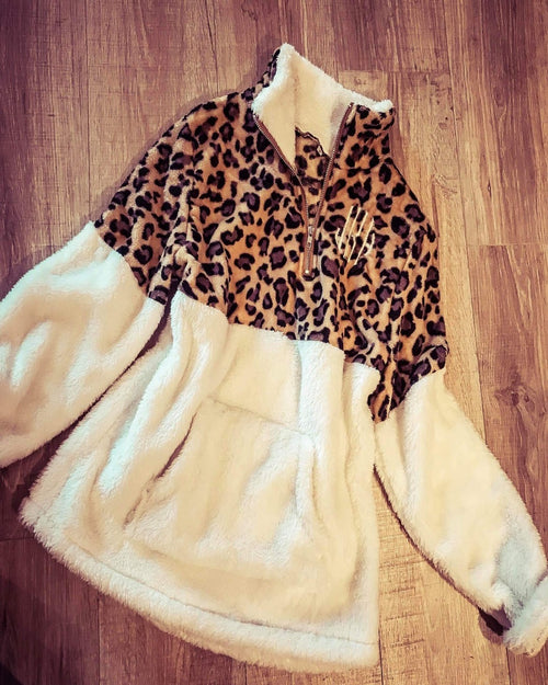Leopard Sherpa-Tops-Inspired Wings Fashion-Small-Inspired Wings Fashion