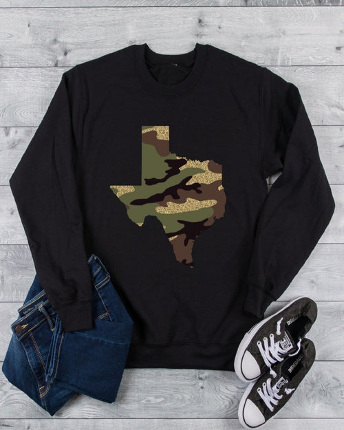 Camo Glitter Sweater-Sweaters-Inspired Wings Fashion-Medium-Black-Inspired Wings Fashion