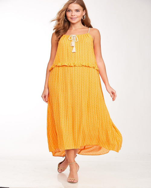Beach Maxi Dress-Dresses-L Love-Small-orange-Inspired Wings Fashion