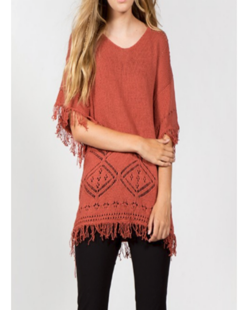 Always Having Fun Fringe Sweater Rust-Sweaters-inspiredwingsfashion-small-Inspired Wings Fashion