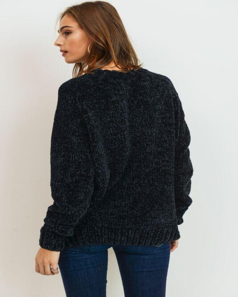 Chenille Sweater Knit Top