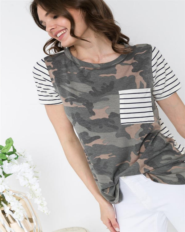 Risk It All Camo Blouse