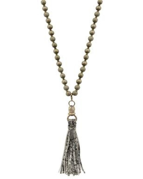 Belle Bead Tassel Necklace-Accessories-What's Hot Jewelry-Inspired Wings Fashion