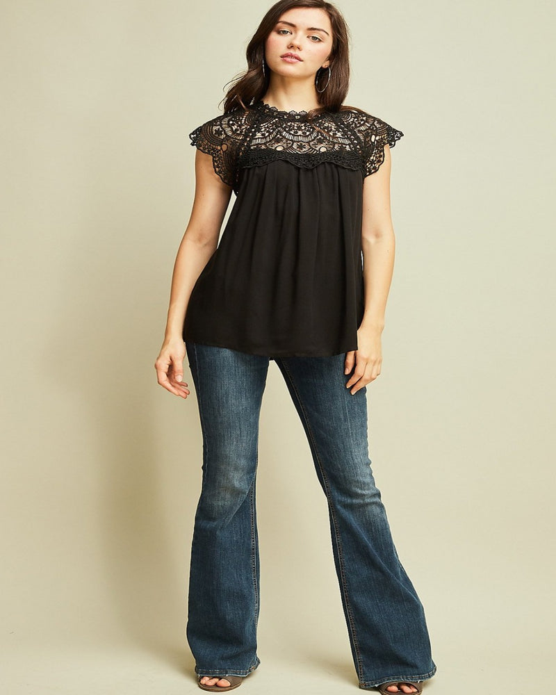 Love Lace Blouse Black