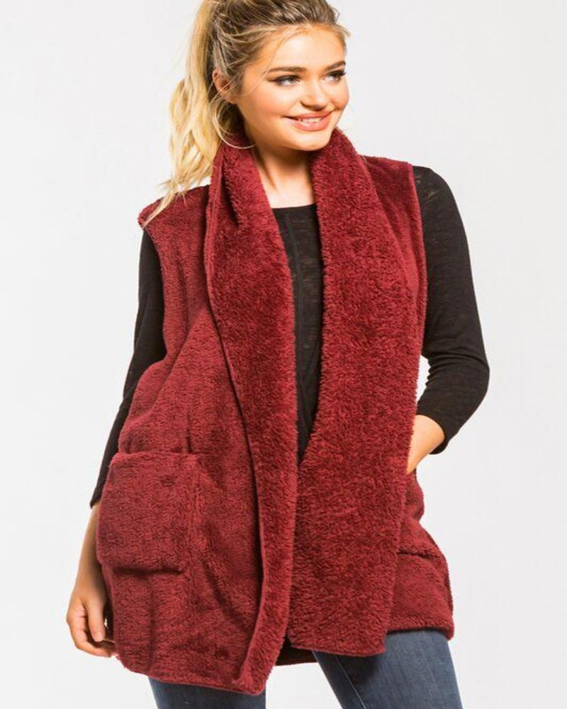 Must Have Fall Vest-Cardigans-Inspired Wings Fashion-Medium-Burgundy-Inspired Wings Fashion