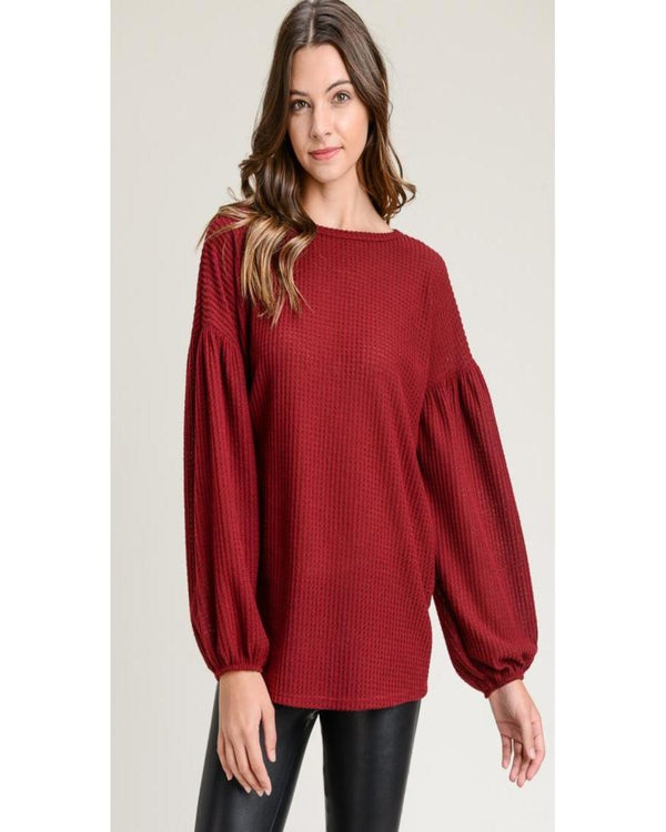 Charming As Can Be Burgundy Sweater