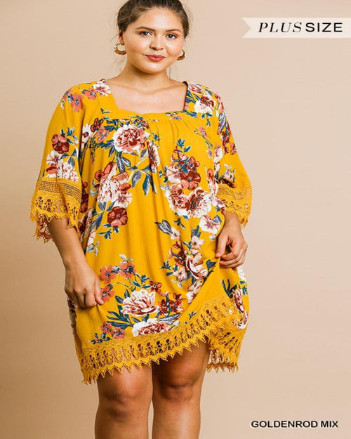 Crochet Bell Sleeve Dress-Plus Size-Inspired Wings Fashion-XL-Inspired Wings Fashion