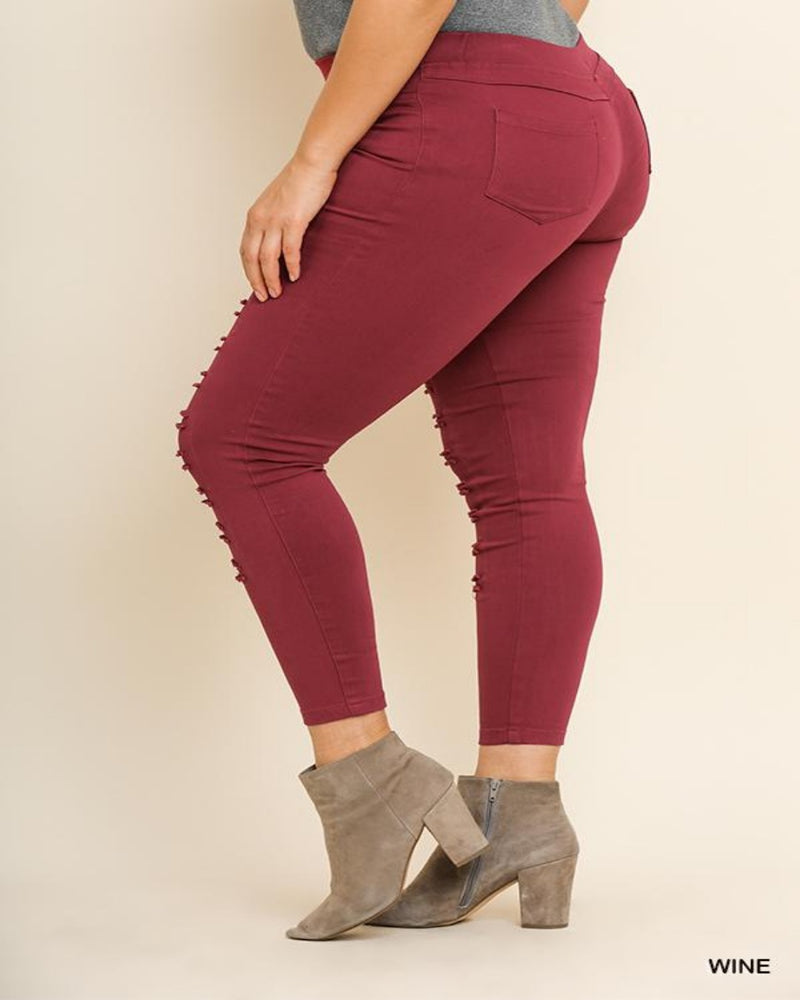 Favorite Jeggings-Plus Size-Inspired Wings Fashion-XL (11/13)-Wine-Inspired Wings Fashion