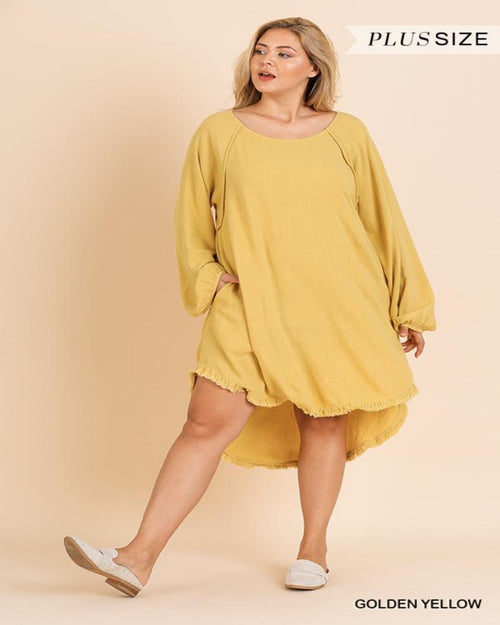 Flirty Fringe Dress- Plus-Plus Size-Inspired Wings Fashion-XL-Yellow-Inspired Wings Fashion
