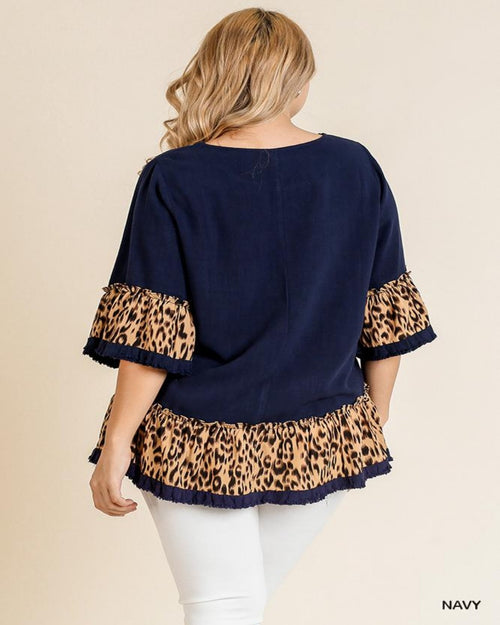 Leopard Bell Blouse-Tops-Inspired Wings Fashion-Small-Inspired Wings Fashion