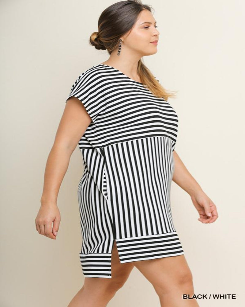 Black/White Dress-Plus Size-Inspired Wings Fashion-XL-Inspired Wings Fashion