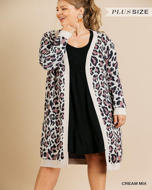 Leopard Knit Cardigan-Plus Size-Inspired Wings Fashion-XL-Inspired Wings Fashion