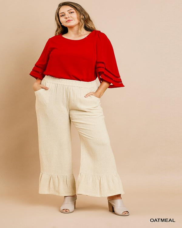 High Wasted Ruffle Pants