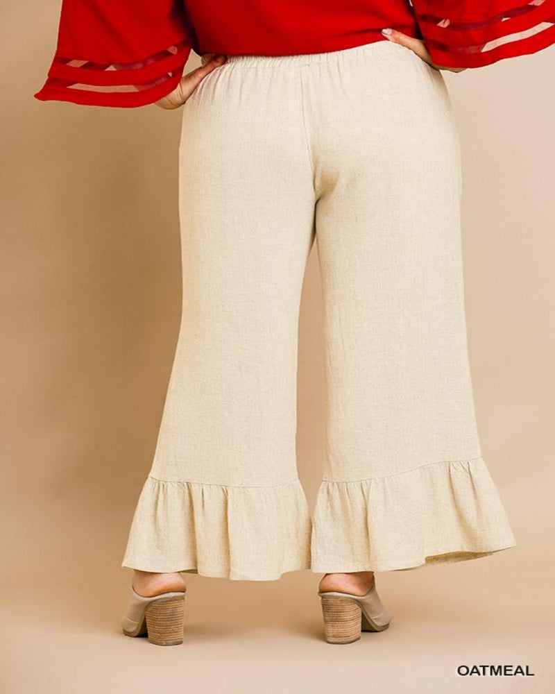 High Wasted Ruffle Pants-Plus Size-Inspired Wings Fashion-XL-Inspired Wings Fashion
