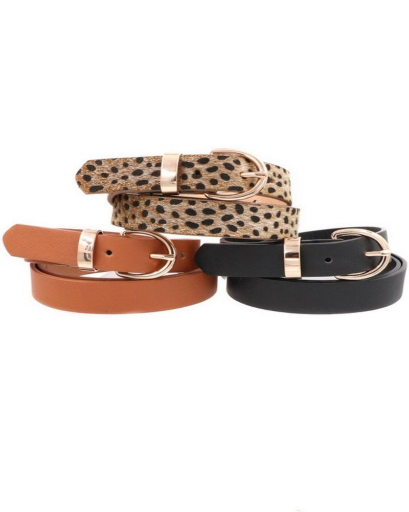 Faux Leather Leopard Belt-Accessories-ARTBOX-Inspired Wings Fashion