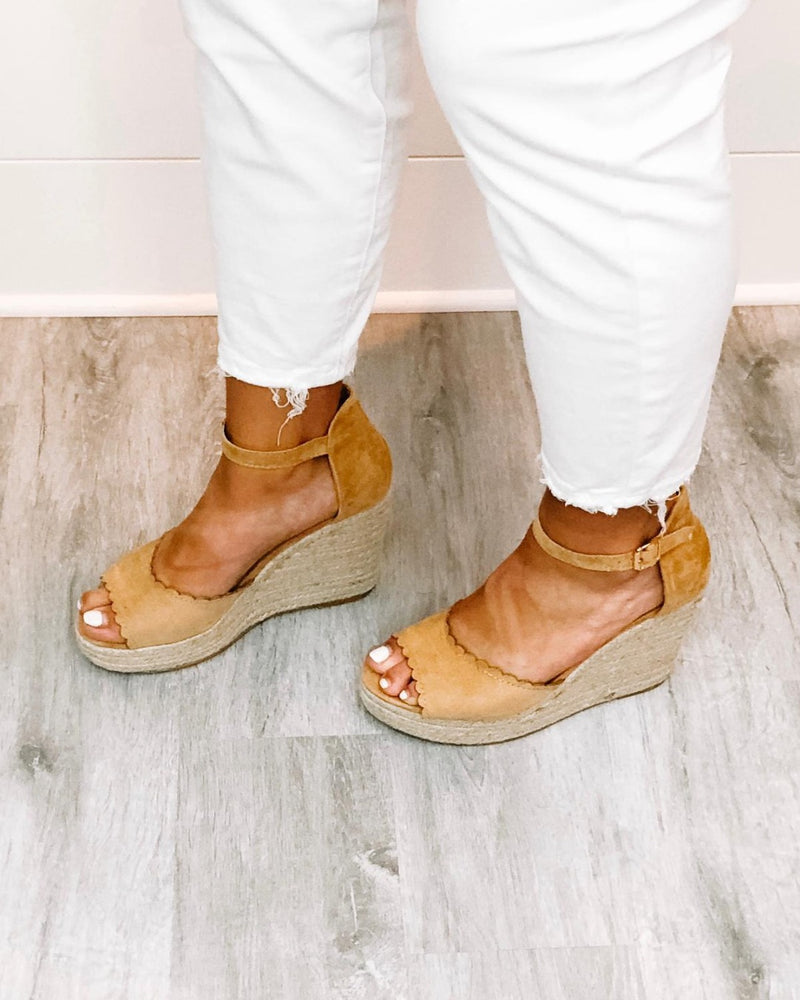 Jessie Scallop Wedges-Shoes-Inspired Wings Fashion-5.5-TOFFEE-Inspired Wings Fashion