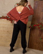 Your Favorite Twist Sweater-swe-Main Strip-Small-Inspired Wings Fashion
