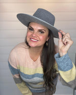 Stay Cozy Fedora Hat-Grey-Accessories-Olive & Pique-Inspired Wings Fashion