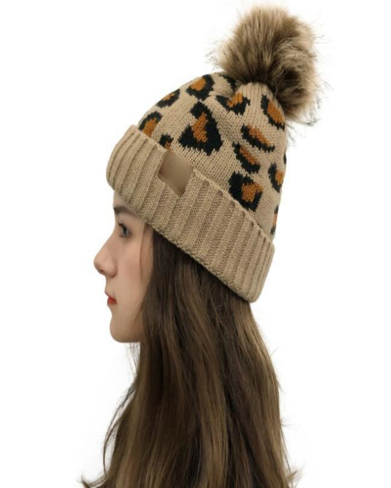 Pompom Wild Beanie-hat-Alibaba-Inspired Wings Fashion