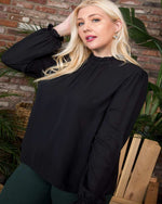 Put On Ruffle Tops-Tops-Main Strip-1XL-Black-Inspired Wings Fashion