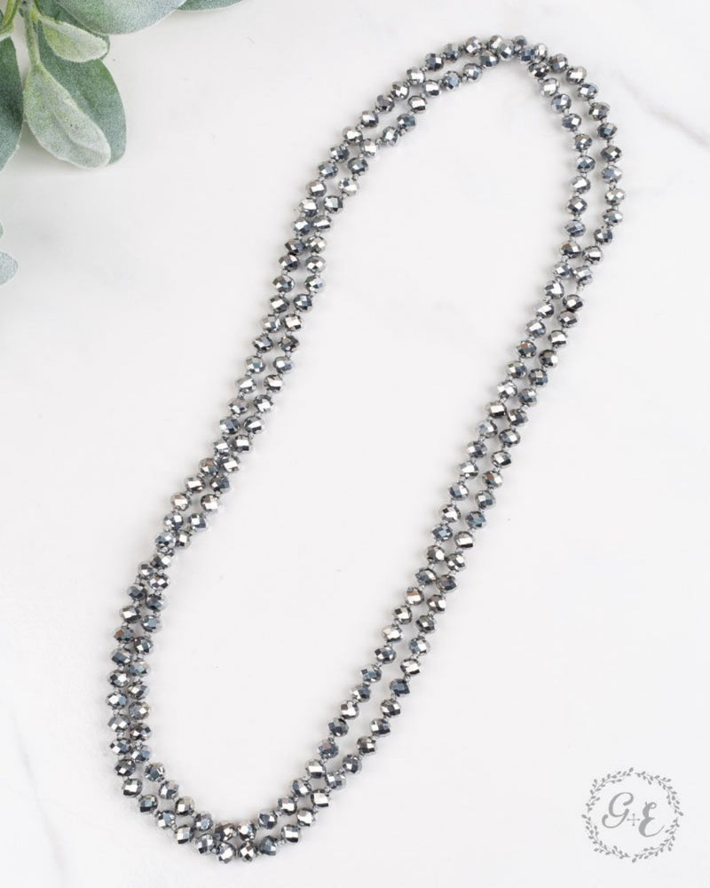 Double Wrap Necklace-Accessories-Southern Grace Wholesale-Graphite-Inspired Wings Fashion