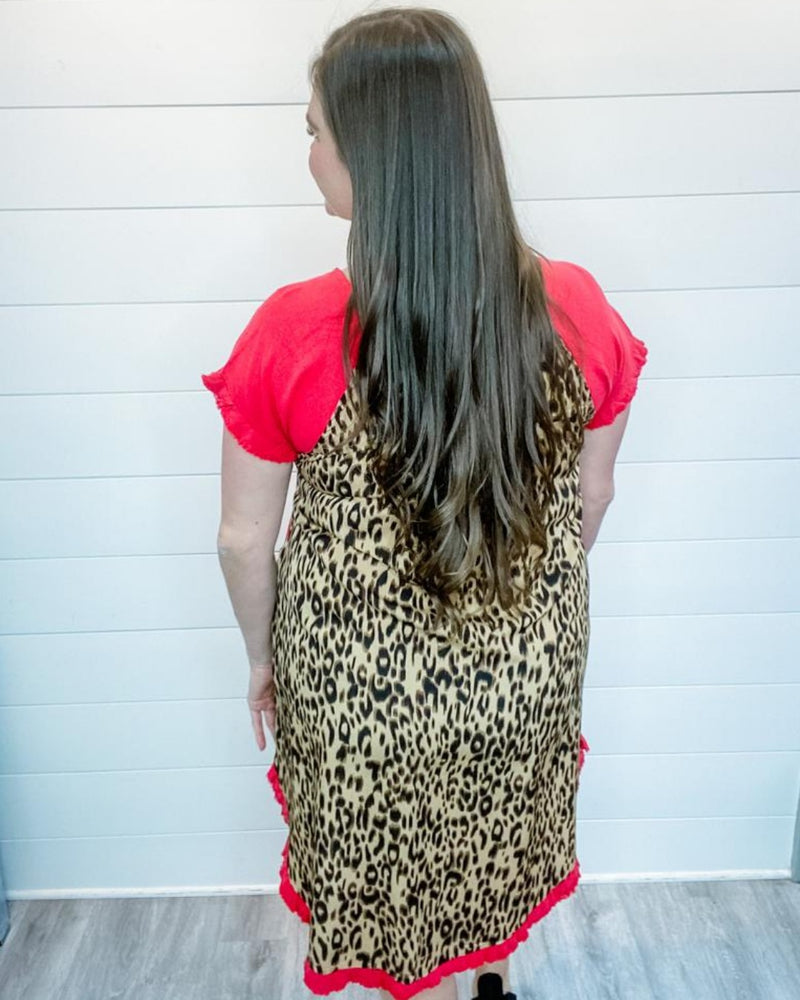 Leopard Dress-Dresses-Umgee-Small-Black-Inspired Wings Fashion