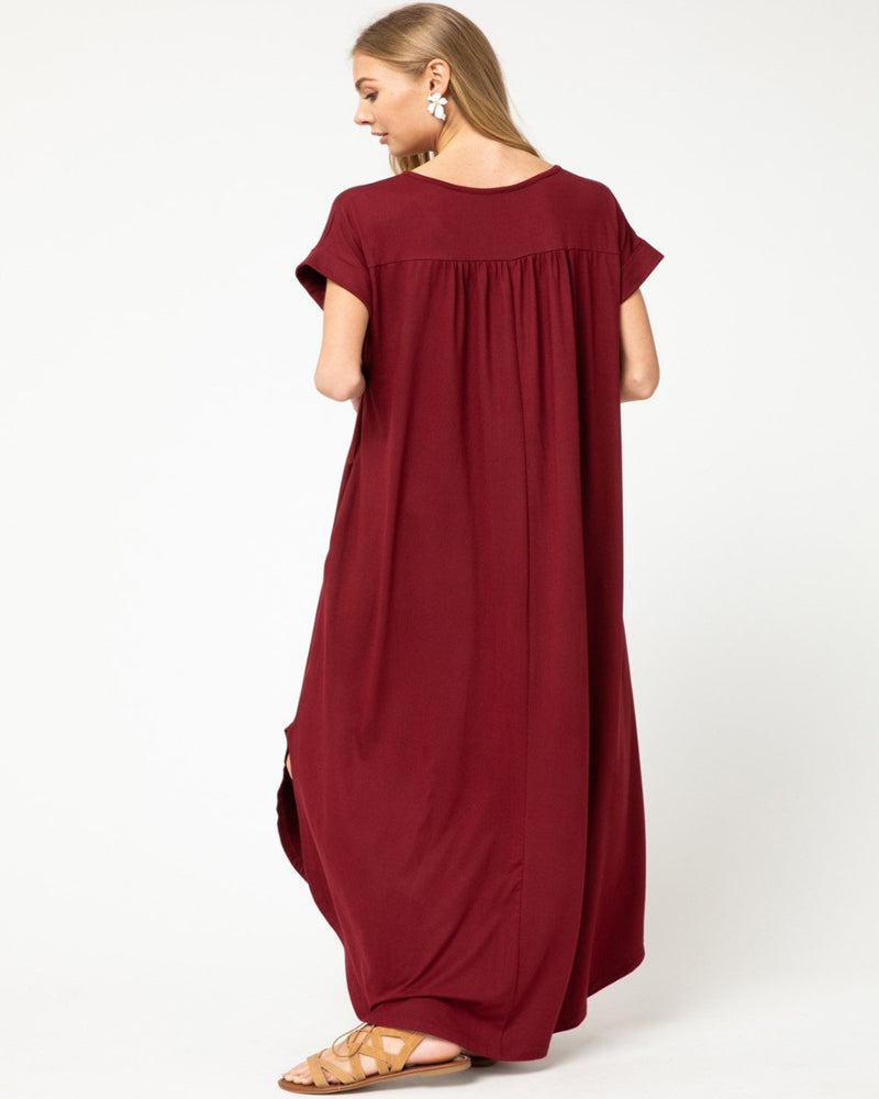 3357-Dresses-Entro-Small-Burgundy-Inspired Wings Fashion