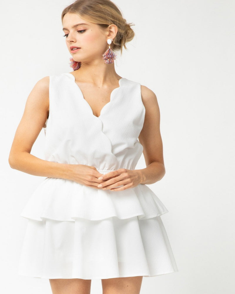 Solid Ruffle Tiered Romper-Romper-Entro-Small-White-Inspired Wings Fashion