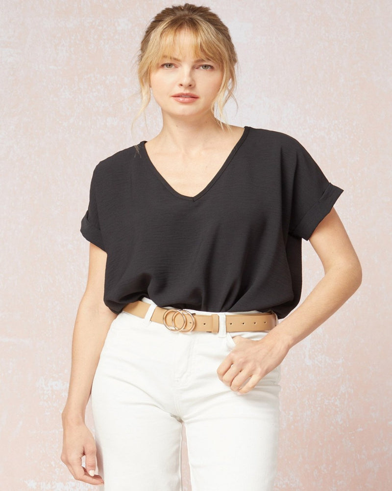 Basic Short Sleeve Bodysuit-Entro-Small-Inspired Wings Fashion