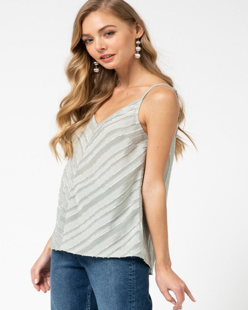 Chevron Print Tank Top-Tops-Entro-Small-Inspired Wings Fashion