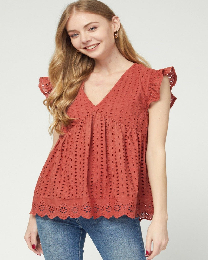 Crochet All Day Top-Tops-Entro-Small-Rust-Inspired Wings Fashion