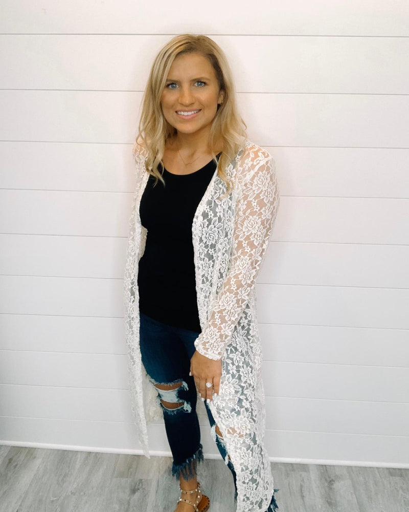 In Style Lace Cardigans-Cardigans-Southern Grace Wholesale-One-Inspired Wings Fashion