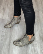 Snakeskin Closed Toe Booties-Shoes-Corky's-6-Inspired Wings Fashion