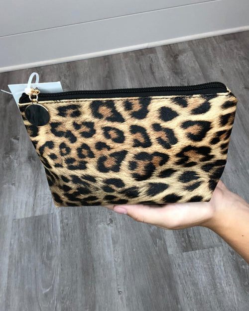 Leopard Makeup Cases Pouch-Bag and Purses-Julia Rose Wholesale-Inspired Wings Fashion