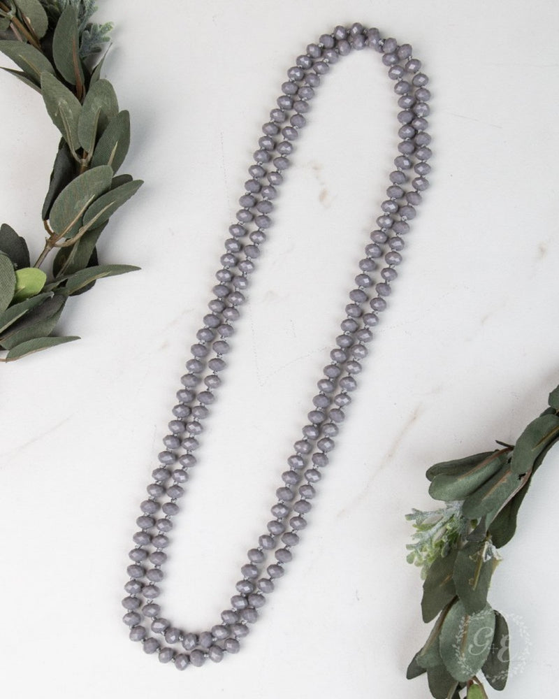 Double Wrap Necklace-Accessories-Southern Grace Wholesale-Grey-Inspired Wings Fashion