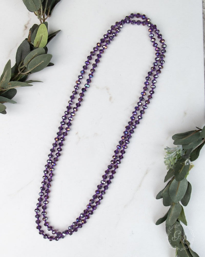 Double Wrap Necklace-Accessories-Southern Grace Wholesale-Purple-Inspired Wings Fashion
